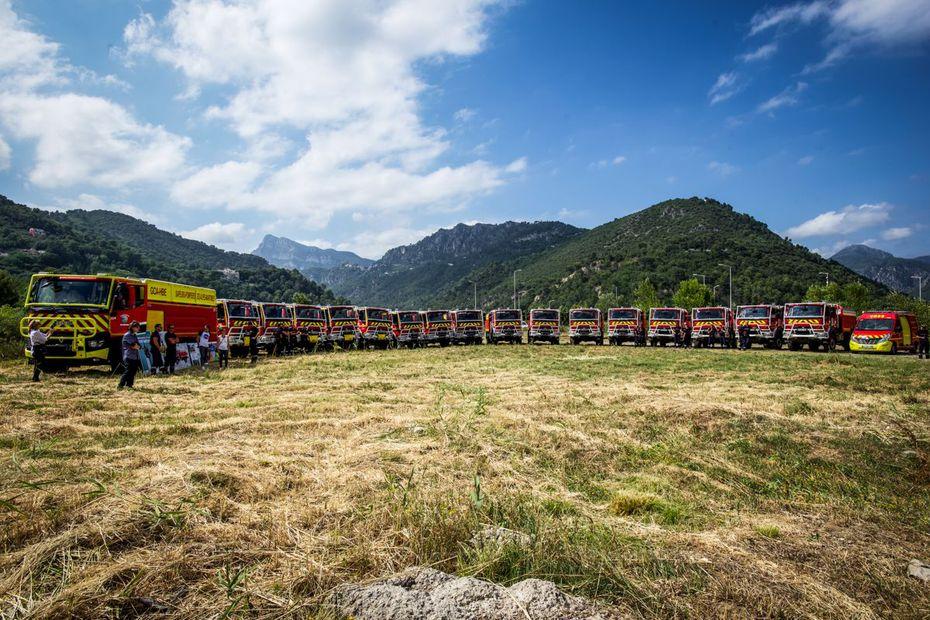 Les pompiers des Alpes-Maritimes équipés de camions-citernes protecteurs pour lutter contre les feux de foret