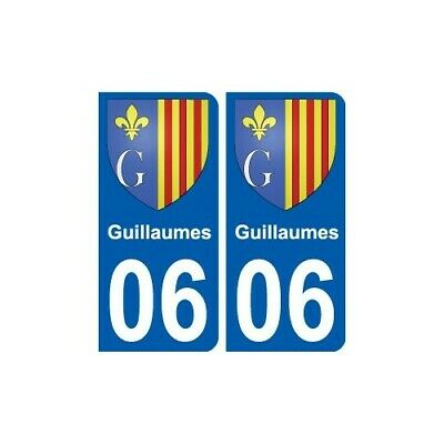 06 Guillaumes blason autocollant plaque stickers ville