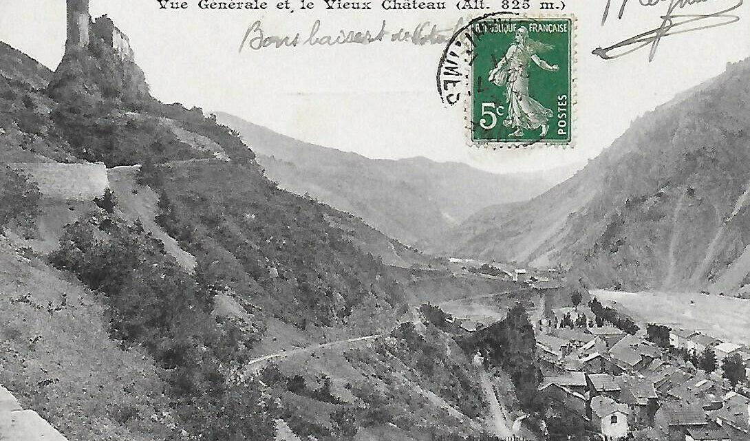 Vallée du Var vue générale et le Vieux Château • EUR 0,50